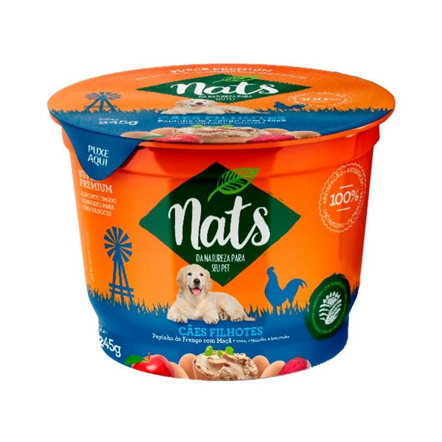 Ração Úmida Nats Papinha para Cães Filhotes Sabor Frango e Maçã 245 g
