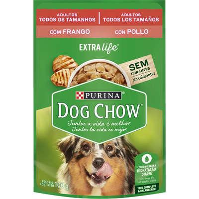 Alimento Úmido Purina Dog Chow para Cães Adultos Sabor Frango -100g