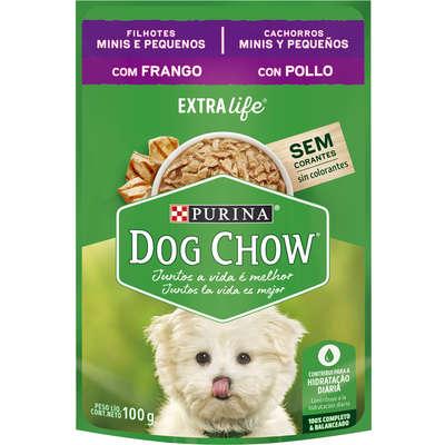 Alimento Úmido Purina Dog Chow Sachê para Cães Filhotes Raças Minis e Pequenas Sabor Frango -100g