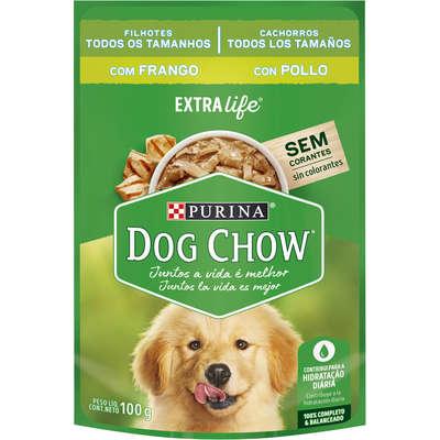 Alimento Úmido Purina Dog Chow Sachê  para Cães Filhotes Sabor Franguinho ao Molho -100g