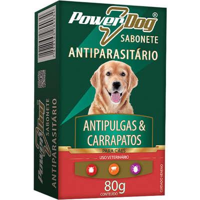 Sabonete Antiparasitário Para Cães Powerdog Antipulgas e Carrapato 80g - Colosso