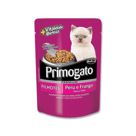 Alimento úmido Premium Primogato Peru e Frango Filhotes  - Hercosul