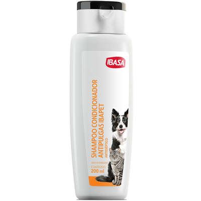 Shampoo Condicionador  Antipulgas para Cães e Gatos Ibasa -200ml