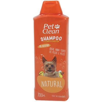 Shampoo e Condicionador  2 em 1 Pet Clean -700ml