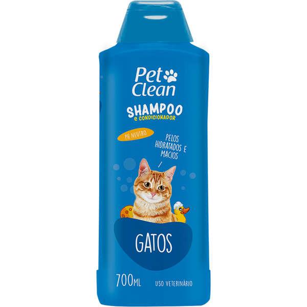 Shampoo e Condicionador para Gatos Pet Clean -700ml