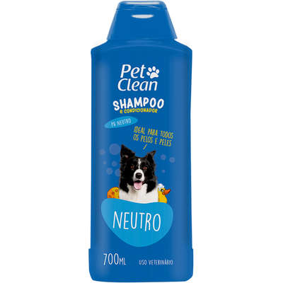 Shampoo Neutro para Cães e Gatos Pet Clean - 700 mL