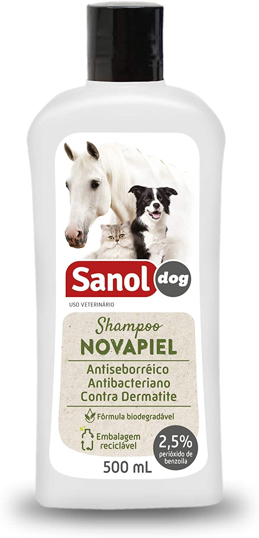 Shampoo Sanol Novapiel para Cachorro e Gatos -500ml