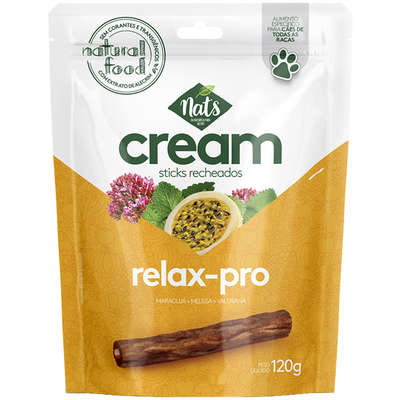 Sticks Recheados  Cream Relax-Pro para Cães Nats -120g