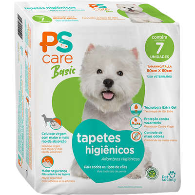 Tapete Higiênico Pet Society PS Care Basic para Cães Adultos