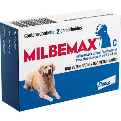 Vermífugo Milbemax C para Cães de 5 a 25 Kg