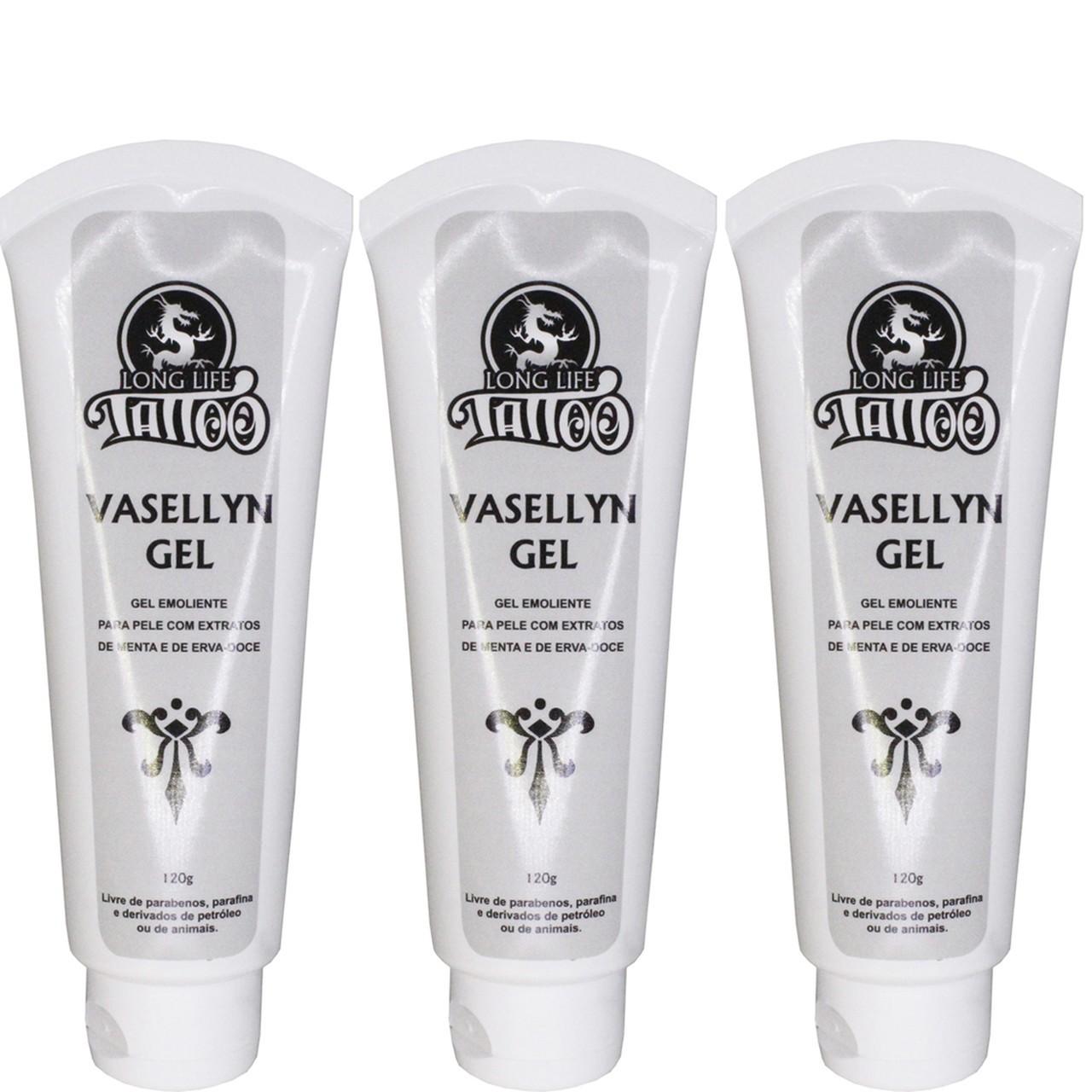 Vaselina para Tatuagem - Vaselina Gel Vegana 120ml ( 3 unds )