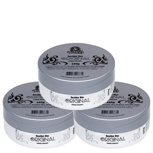 Vaselina para Tatuagem e micropigmentação - Vasellyn Wax Original - 100g ( 3 unds )