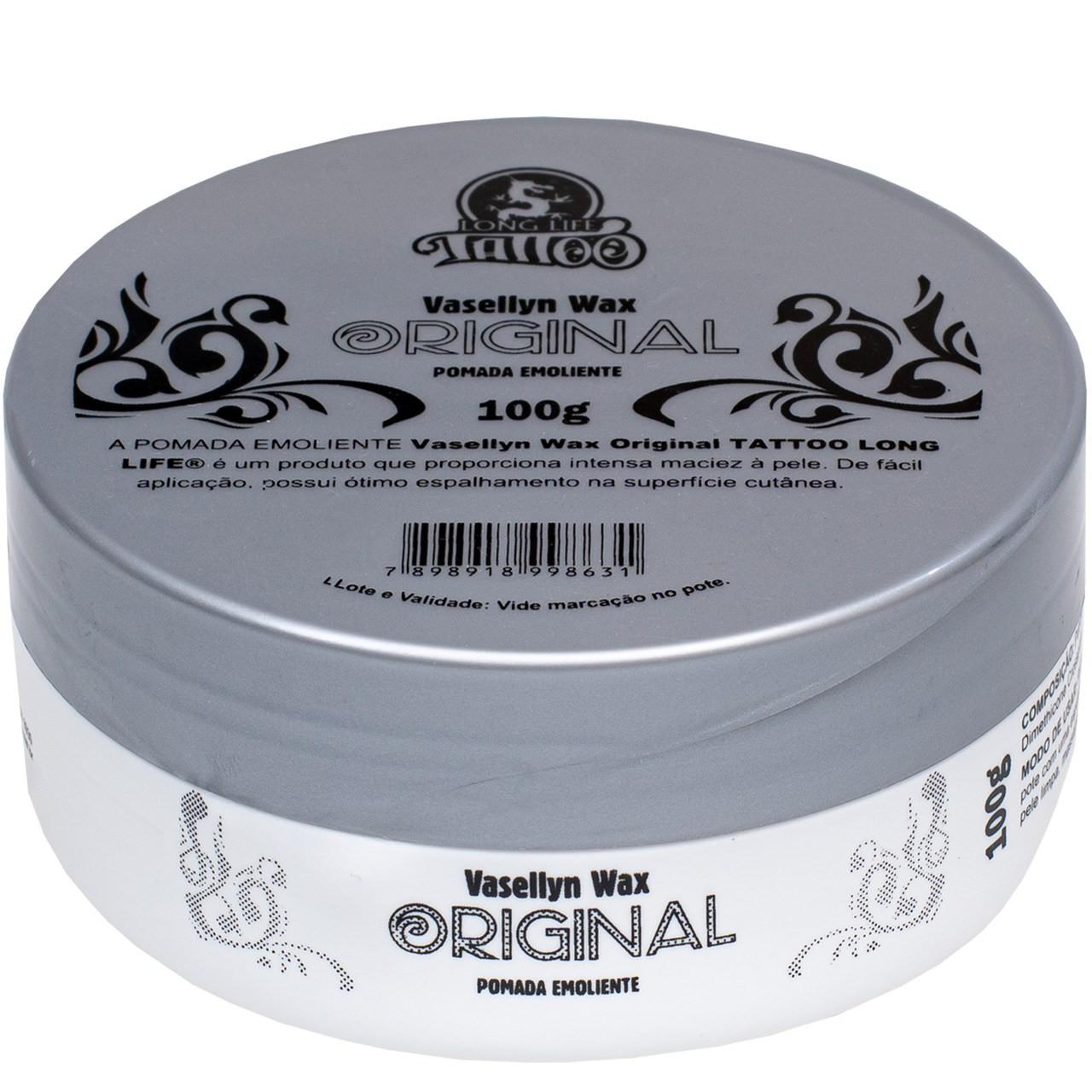 Vaselina para Tatuagem e Micropigmentação - Vasellyn Wax Original  100g -