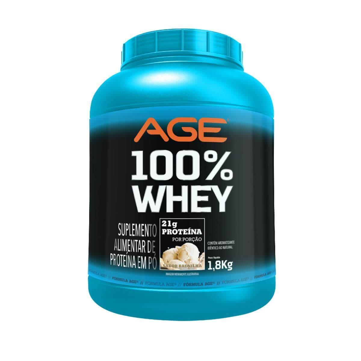 Age 100% Whey Sabor Baunilha 1,800 kg