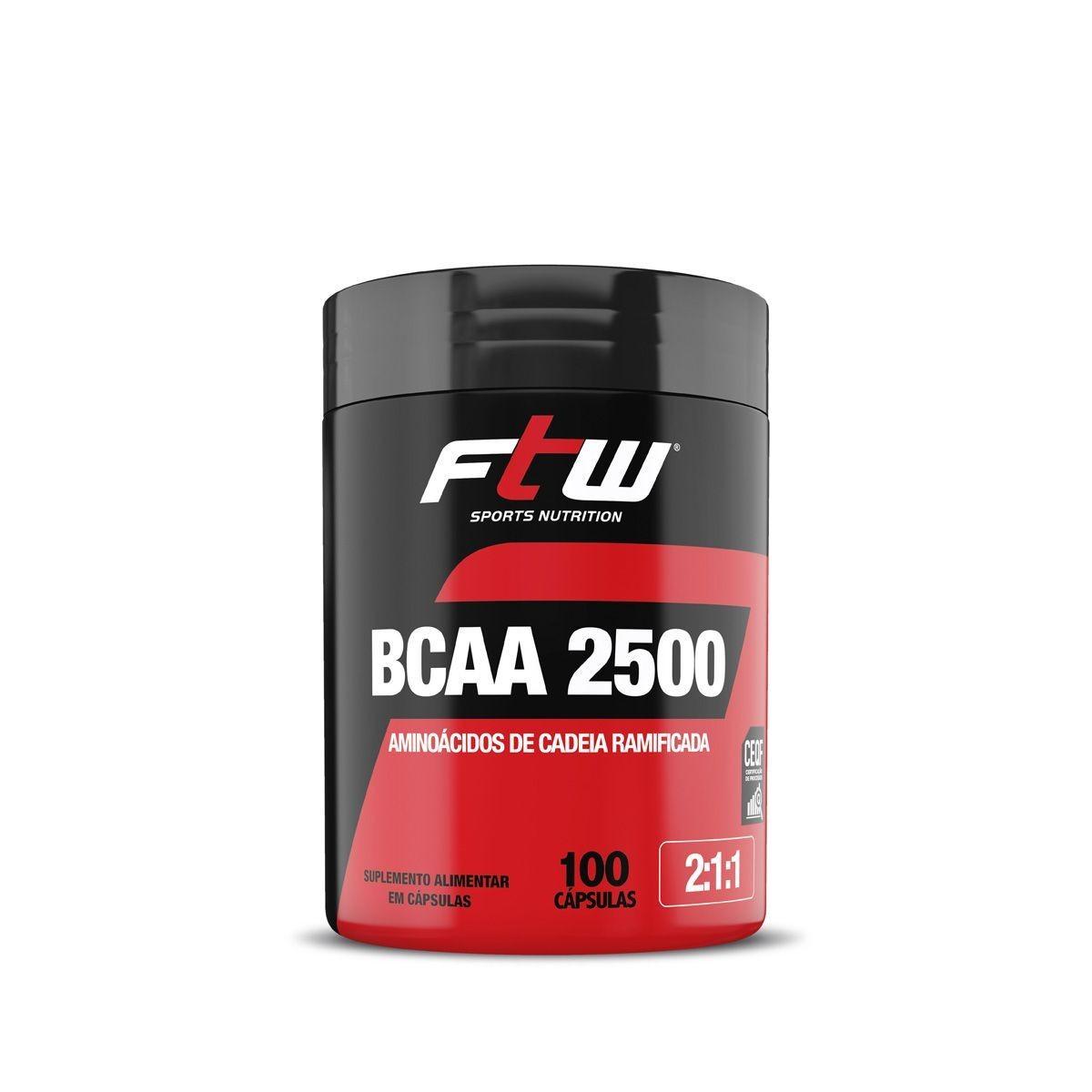 BCAA 2500 FTW 100 Capsulas
