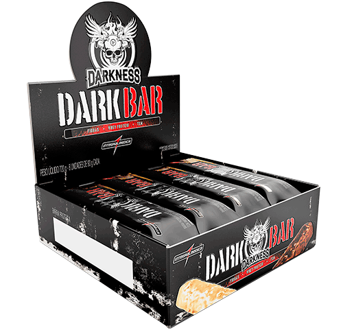 Dark Whey Bar Caixa c/ 8 Un Sabor Chocolate com Coco e Chocolate Chips