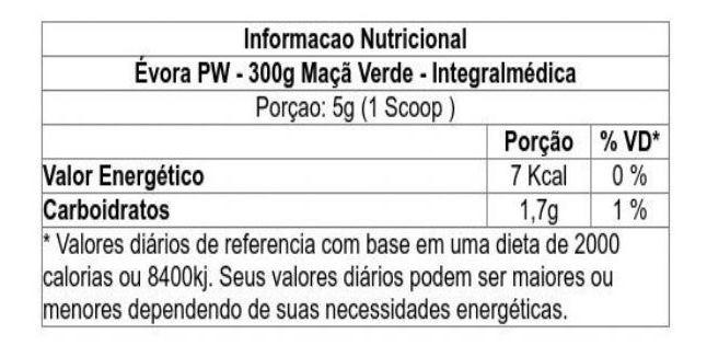 Pre Treino Evora PW Darkness Sabor Maçã Verde 300 g
