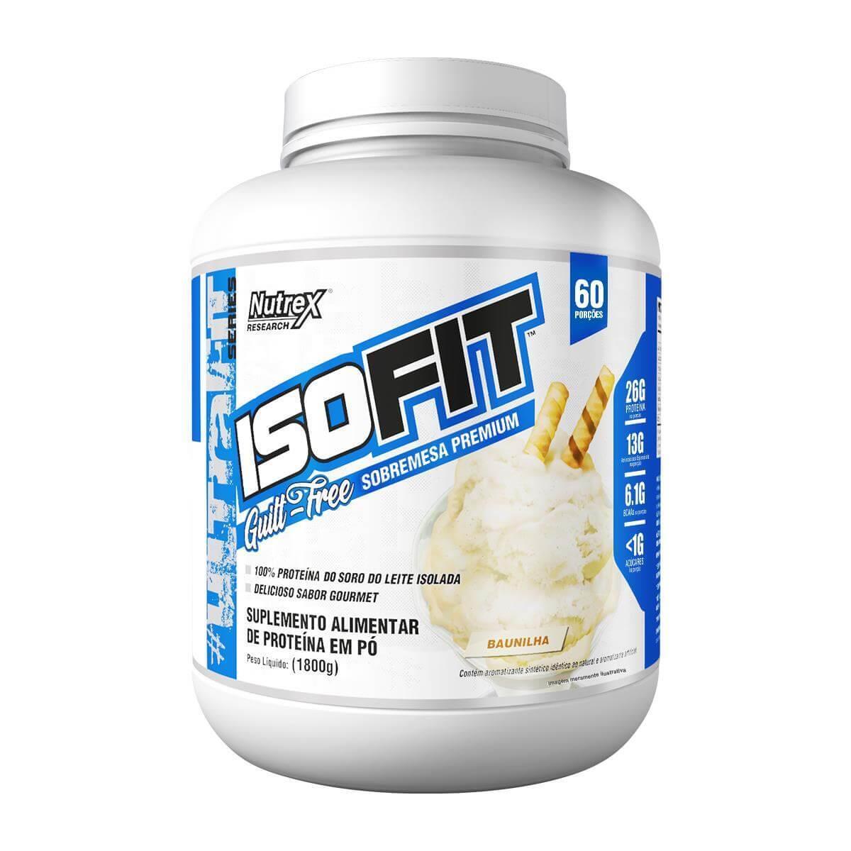 Isofit 100% Whey Isolado Sabor Baunilha 1,800 kg