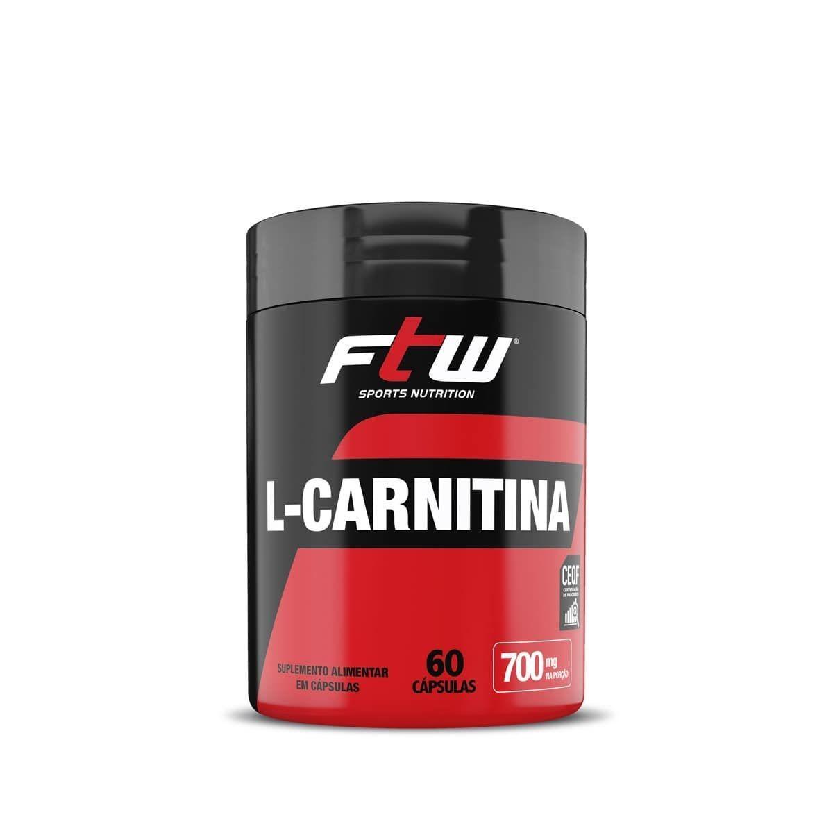 L- Carnitina FTW 700 mg 60 Capsulas