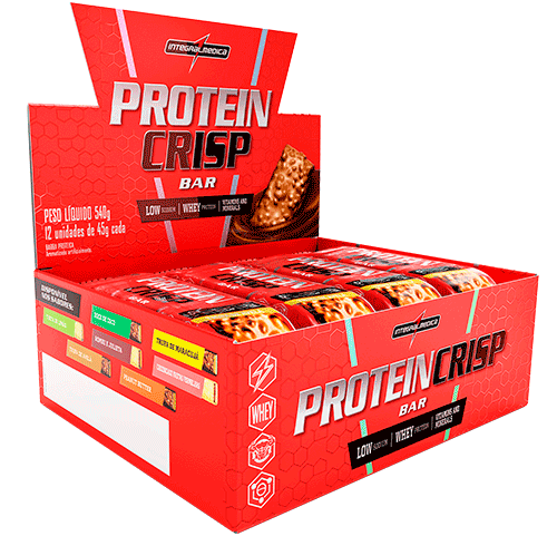 Protein Crisp Caixa com 12 un Sabor Trufa de Avelã