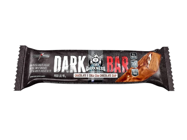 Whey Bar Darkness Sabor Chocolate com Coco e Chocolate Chips