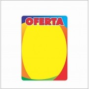 CARTAZ OFERTA 4 CORES 14X20CM (C/50 UNIDADES)