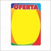 CARTAZ OFERTA 4 CORES 20X30CM (C/50 UNIDADES)