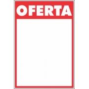 CARTAZ OFERTA VERMELHO E BRANCO 20X30 (C/40 UNIDADES)
