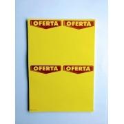ETIQUETA MICROSERRILHADA OFERTA C/4 (C/50 UNIDADES) TAMANHO (A4)