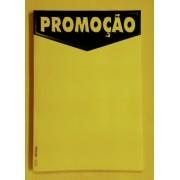 CARTAZ PROMOÇÃO PRETO E AMARELO 40X60CM (C/45 UNIDADES, 2D, 250G)