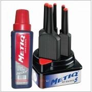 (METIQ) KIT C/5 PINCEIS + TINTA METIQ 500ML (UNIDADE) (CORES)