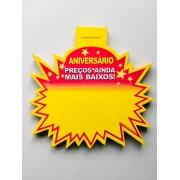 SPLASH ANIVERSÁRIO (PREÇOS AINDA MAIS BAIXOS) 21X21CM (C/50 UNIDADES)