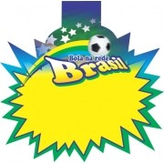 SPLASH OFERTA COPA BOLA NA REDE BRASIL 21X21CM (C/50 UNIDADES)