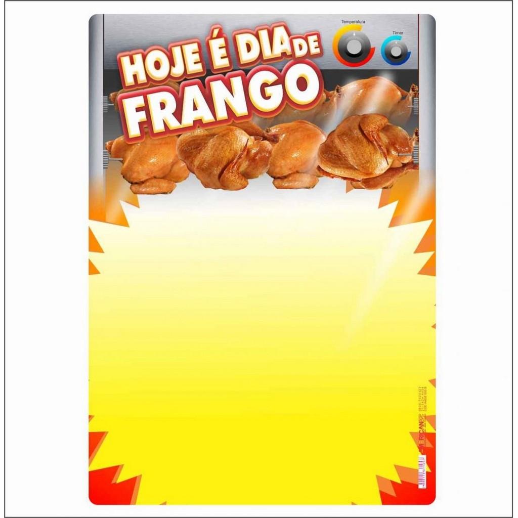 CARTAZ HOJE É DIA DE FRANGO 40X60CM (C/50 UNIDADES)