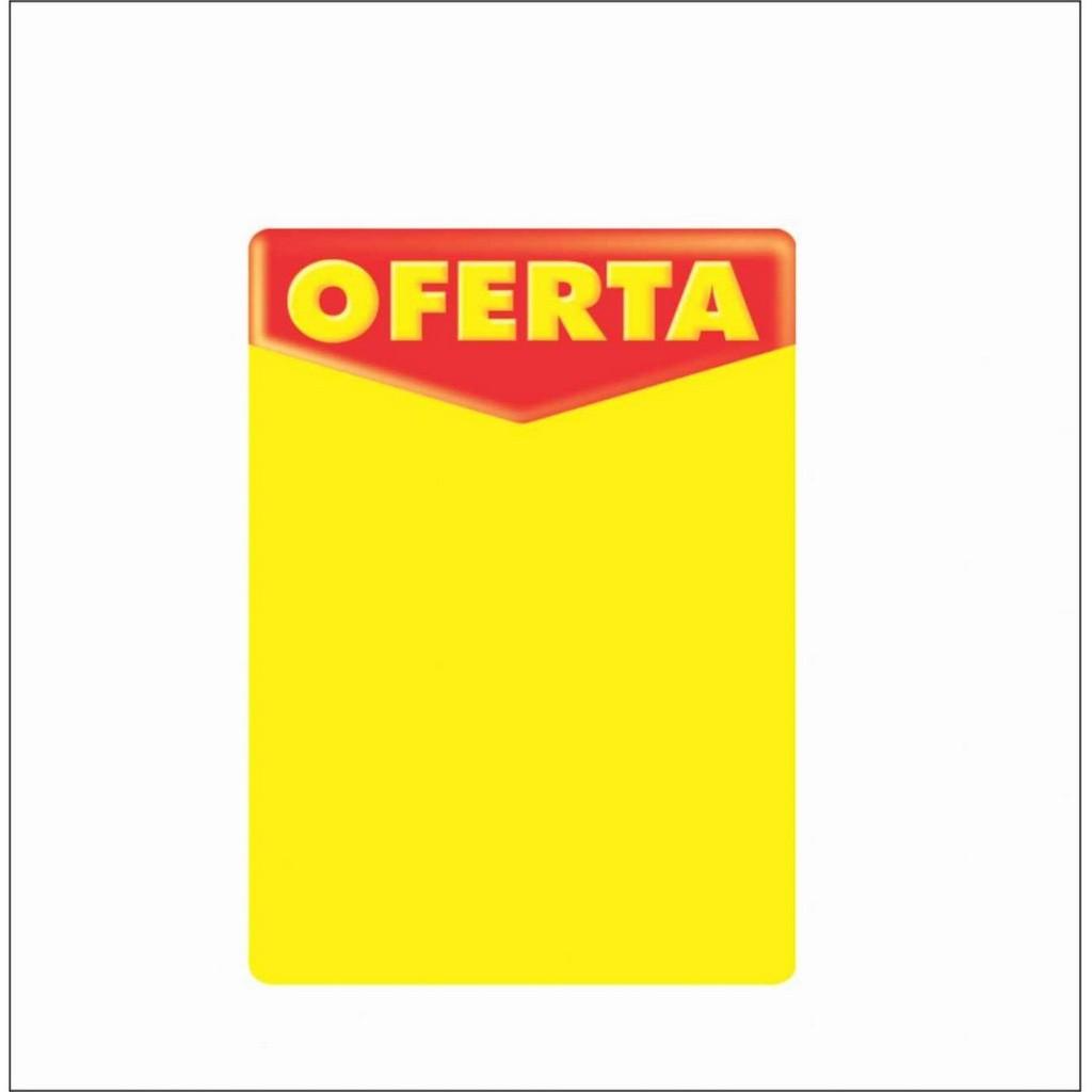 CARTAZ OFERTA 14X20CM (C/50 UNIDADES, 2D, 250G)