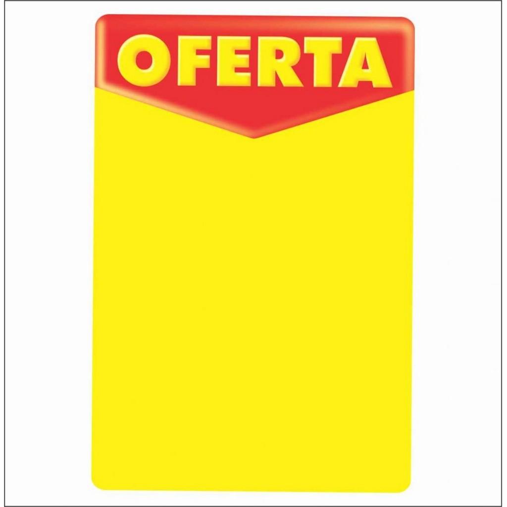 CARTAZ OFERTA 20X30CM (C/50 UNIDADES, 2D, 250G)
