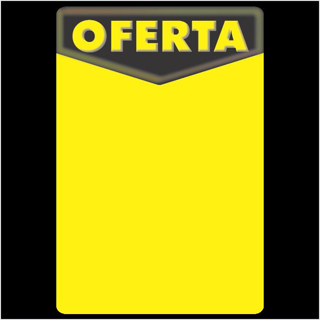 CARTAZ OFERTA 40X60CM (C/50 UNIDADES, 2D,  180G FOSCO MAIS FINO PRETO E AMARELO)
