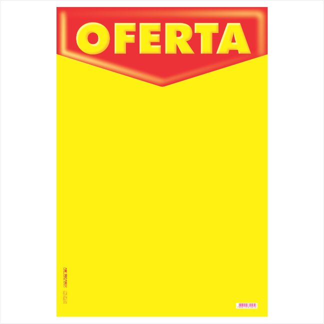 CARTAZ OFERTA 40X60CM (C/50 UNIDADES, 2D,  180G FOSCO MAIS FINO VERMELHO E AMARELO)