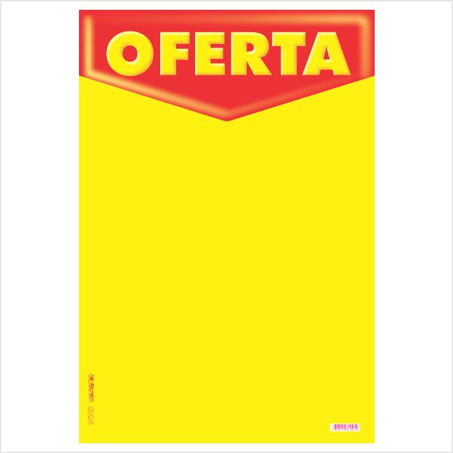 CARTAZ OFERTA 40X60CM (C/50 UNIDADES, 2D, C/ARREDONDADO, 180G FOSCO MAIS FINO)