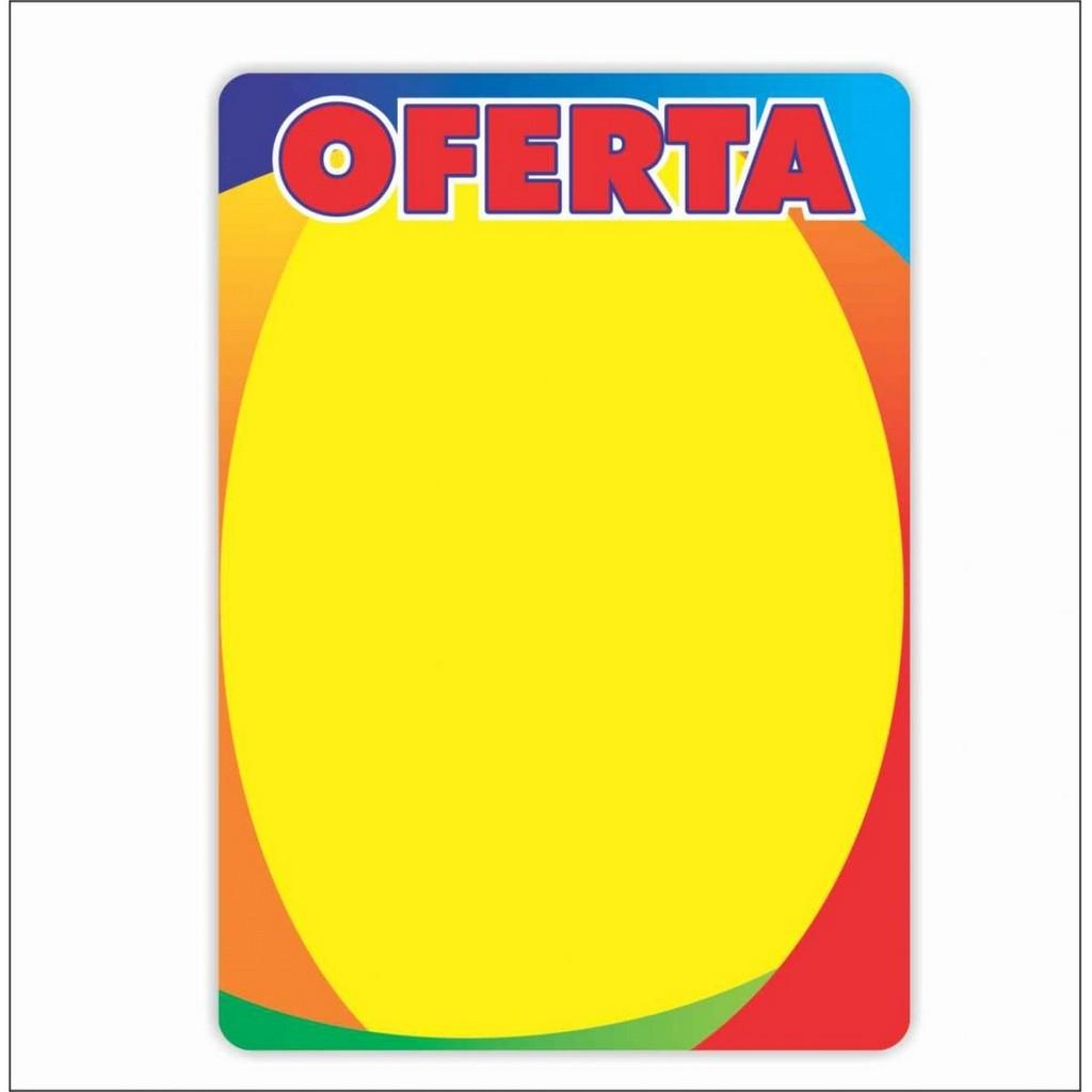 CARTAZ OFERTA 4 CORES 29X40CM (C/50 UNIDADES)