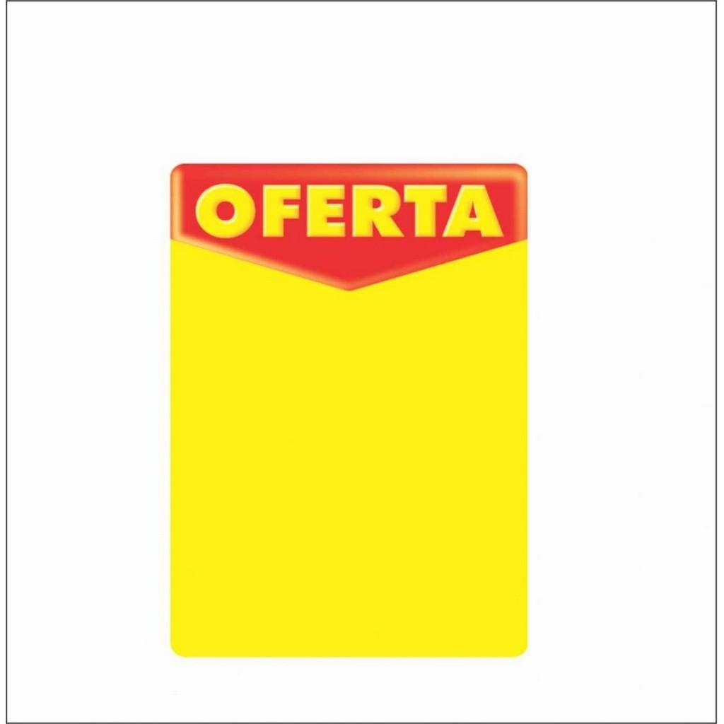 CARTAZ OFERTA 7,5X10CM (C/50 UNIDADES, 2D, 250G)