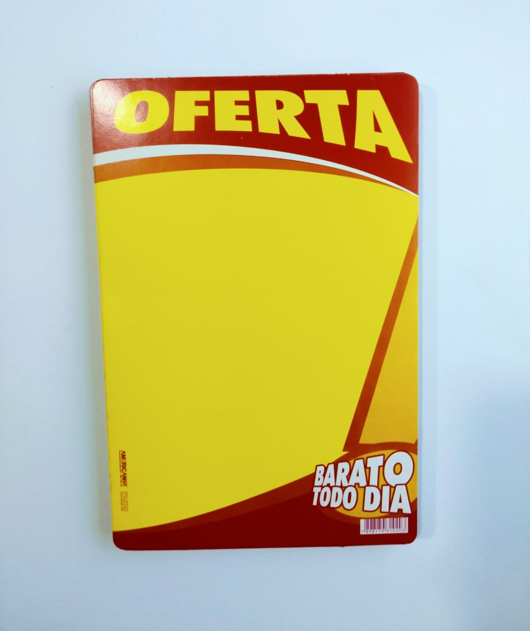 CARTAZ OFERTA BARATO TODO DIA 20X30CM (C/50 UNIDADES)