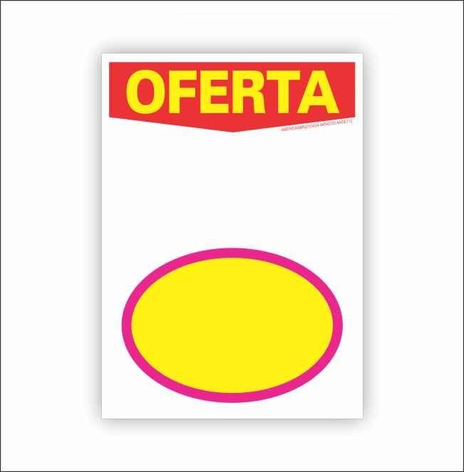 CARTAZ OFERTA COM ELIPSE 15X20 (C/ 50 UNIDADES)