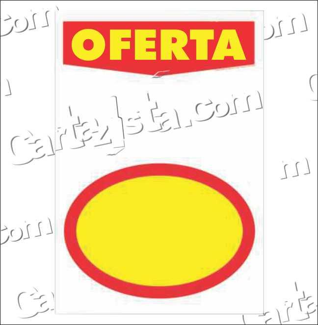 CARTAZ OFERTA COM ELIPSE 29X40 (C/ 50 UNIDADES)