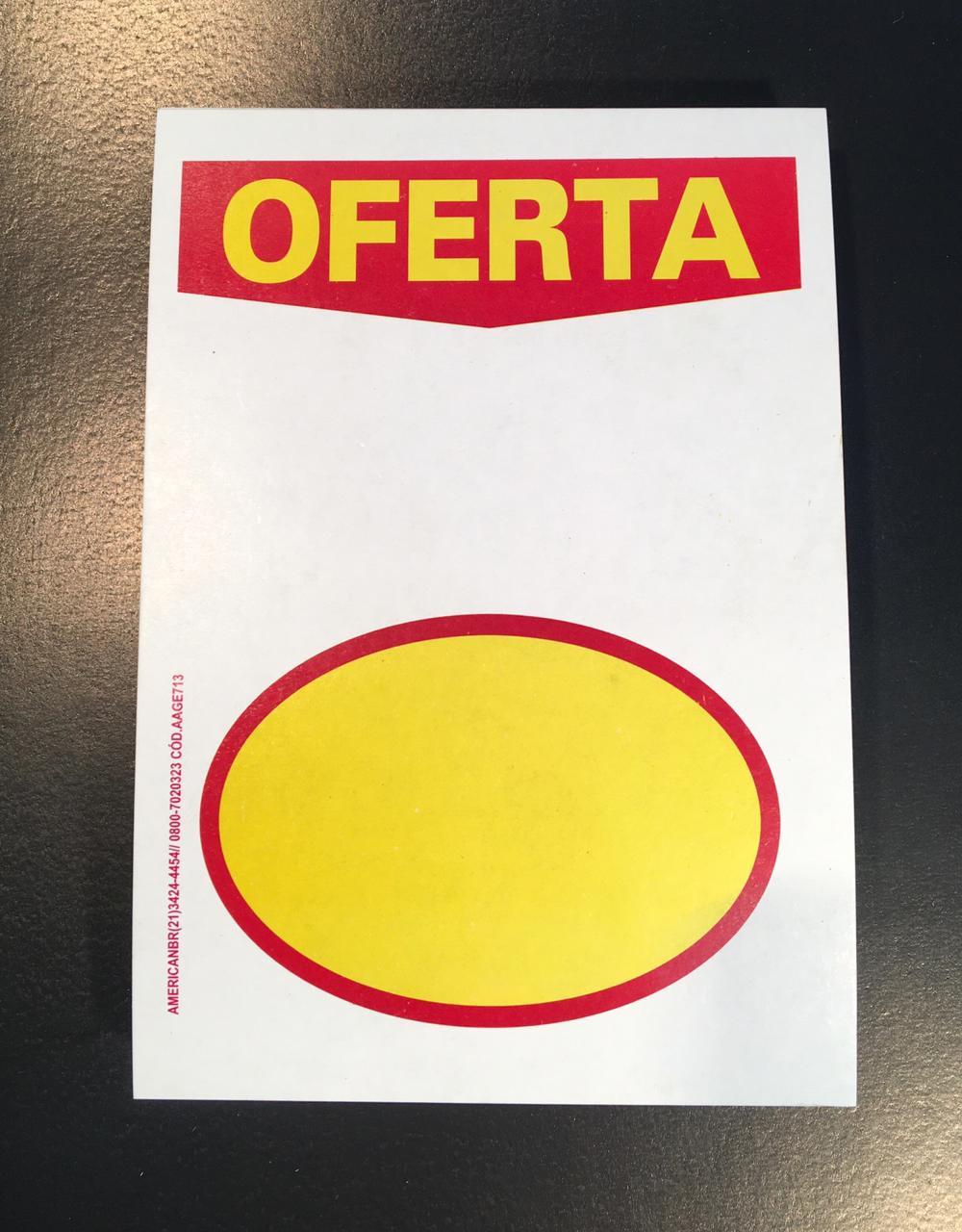 CARTAZ OFERTA COM ELIPSE 40X60 (C/ 50 UNIDADES)