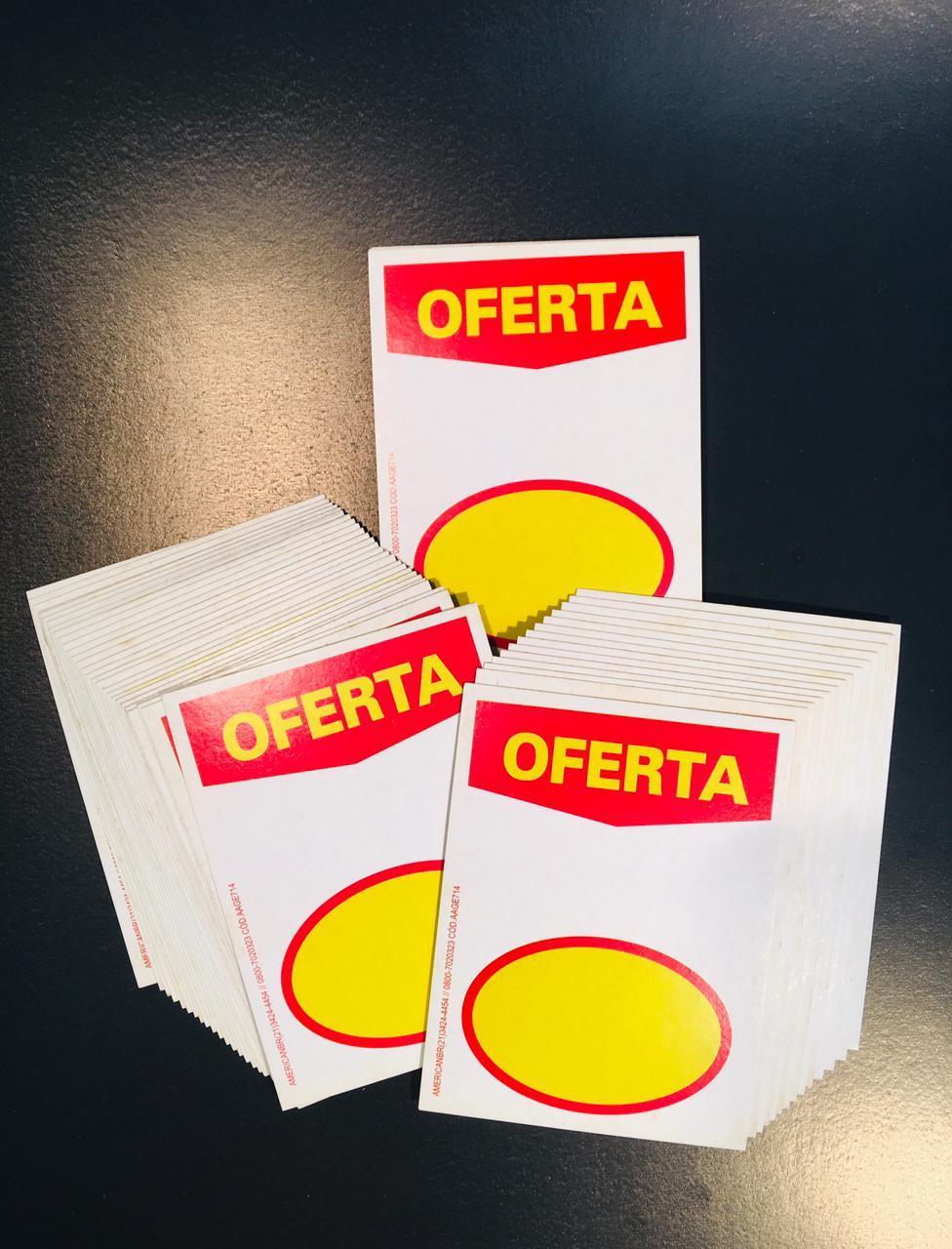 CARTAZ OFERTA COM ELIPSE 7,5X10 (C/ 50 UNIDADES)