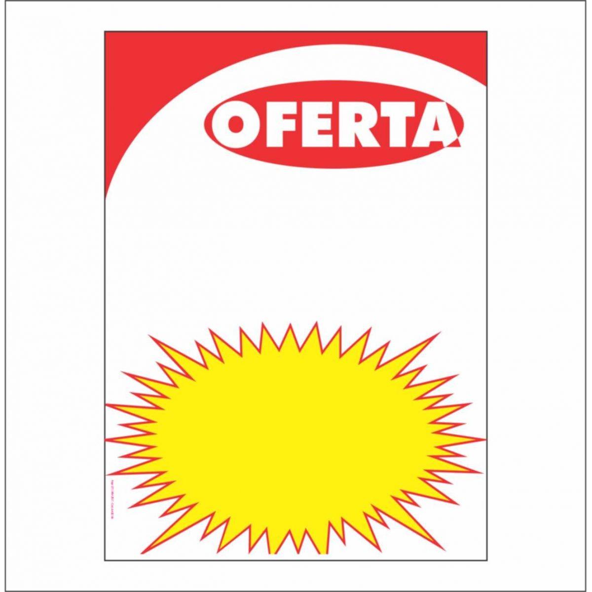 CARTAZ OFERTA COM SPLASH 15X20 (C/ 50 UNIDADES)
