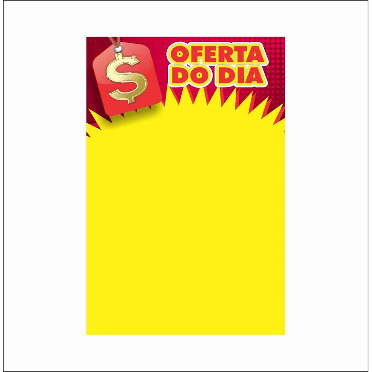 CARTAZ OFERTA DO DIA 20X30CM (C/50 UNIDADES, 2D, 250G)