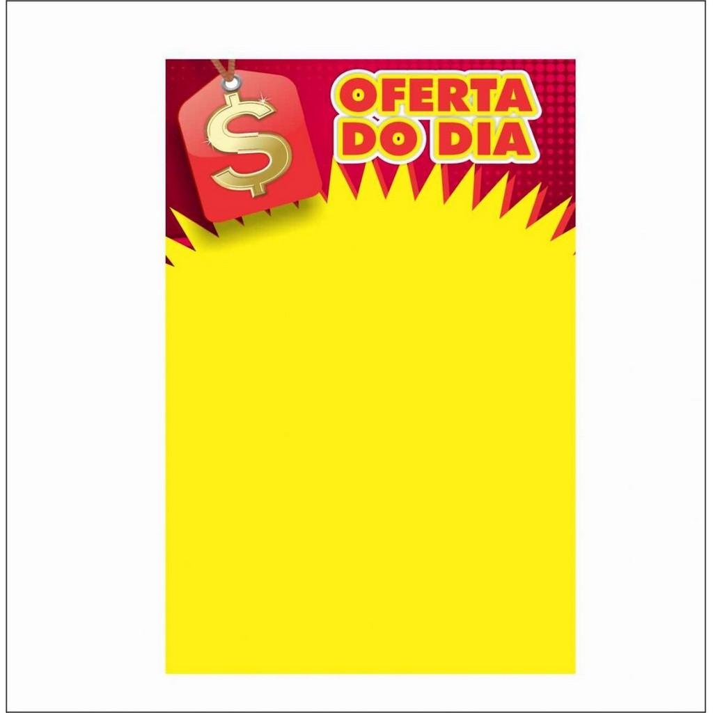 CARTAZ OFERTA DO DIA 29X40CM (C/50 UNIDADES, 2D, 250G)