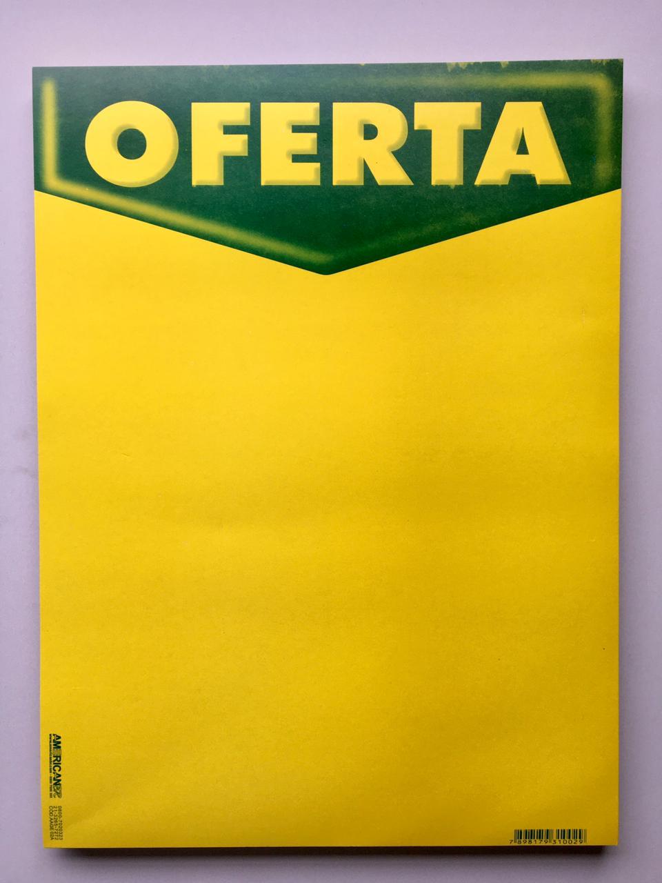 CARTAZ OFERTA VERDE E AMARELO 30X40CM (C/50 UNIDADES)